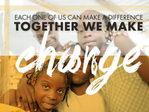Each one of us make a difference - together we make a change