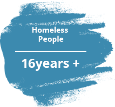 Homeless people 16 years and up