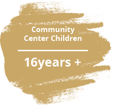 Community center children 16years and up