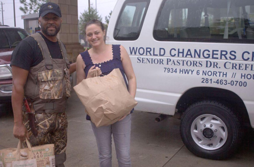 Archie Collins Provides Hurricane Harvey Relief Support to Local Recipient