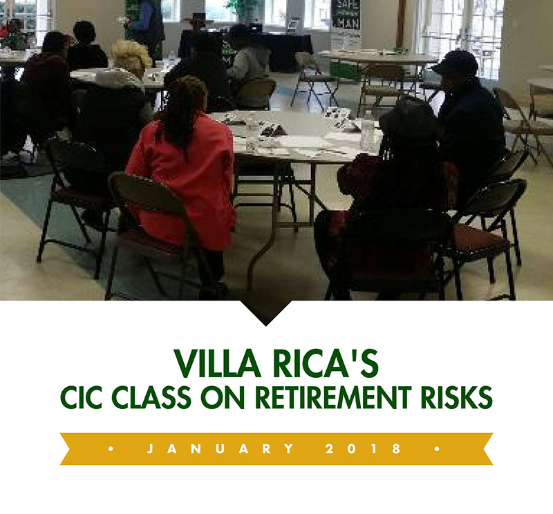 Villa Rica's CIC Class on Retirement Risks thumbnail