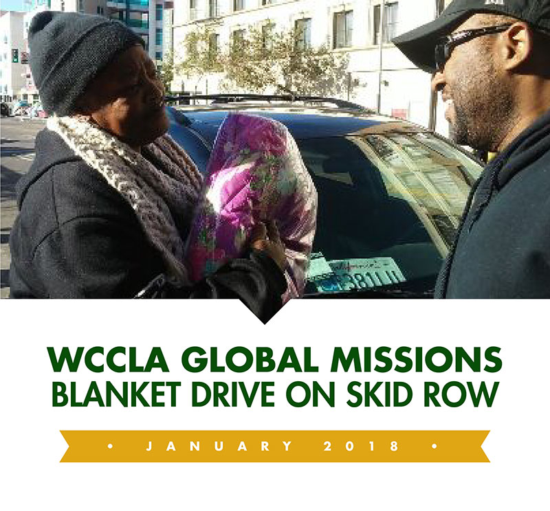 WCCLA Global Missions Blanket Drive on Skid Row thumbnail